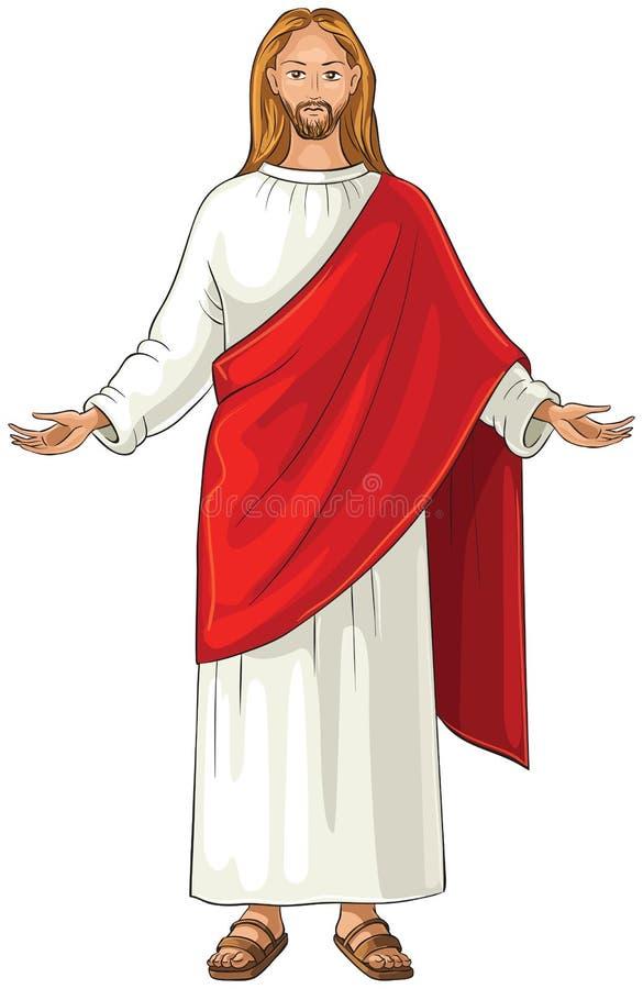 Jesus Christ als Jesus van Nazareth ook wordt bedoeld die vector illustratie