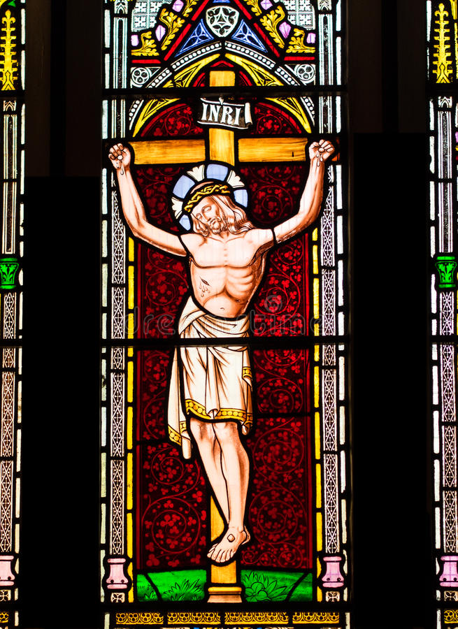 Jesus Christ auf dem Kreuz. lizenzfreie stockbilder