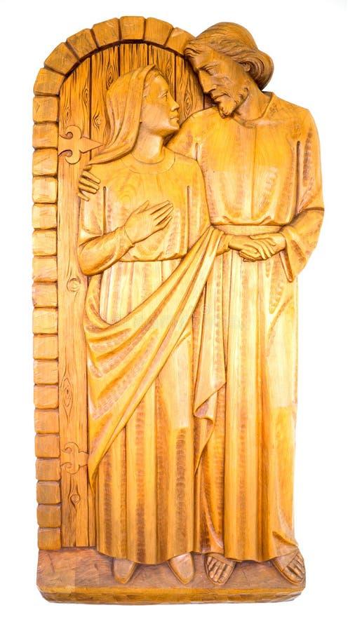 Jesus Christ And Blessed Mother Mary lizenzfreie stockfotografie