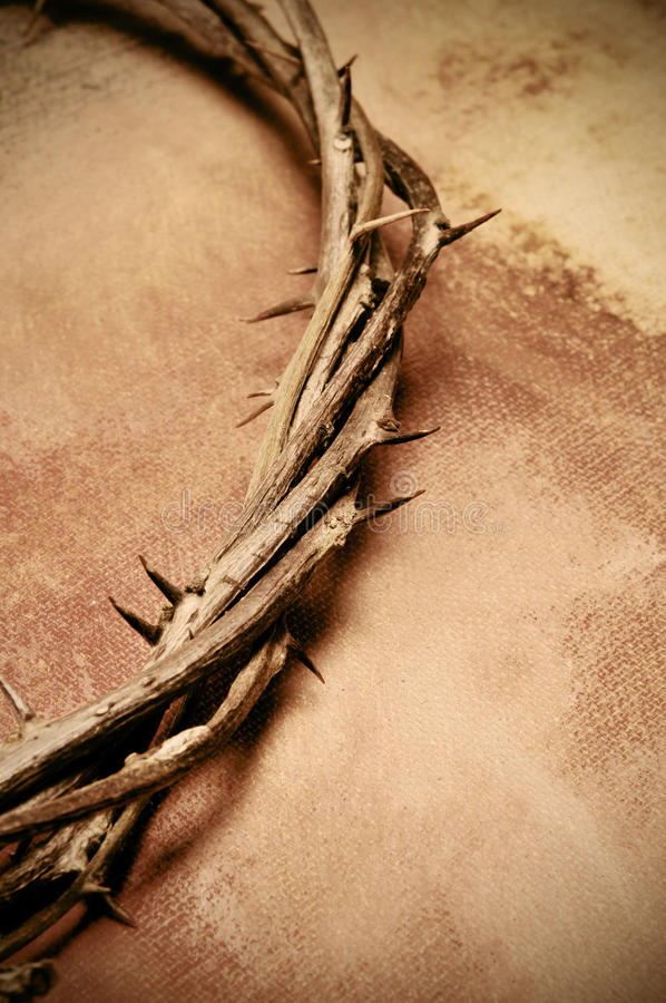 Jesus Christ crown of thorns royalty free stock images