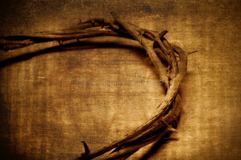 Jesus Christ crown of thorns stock photos