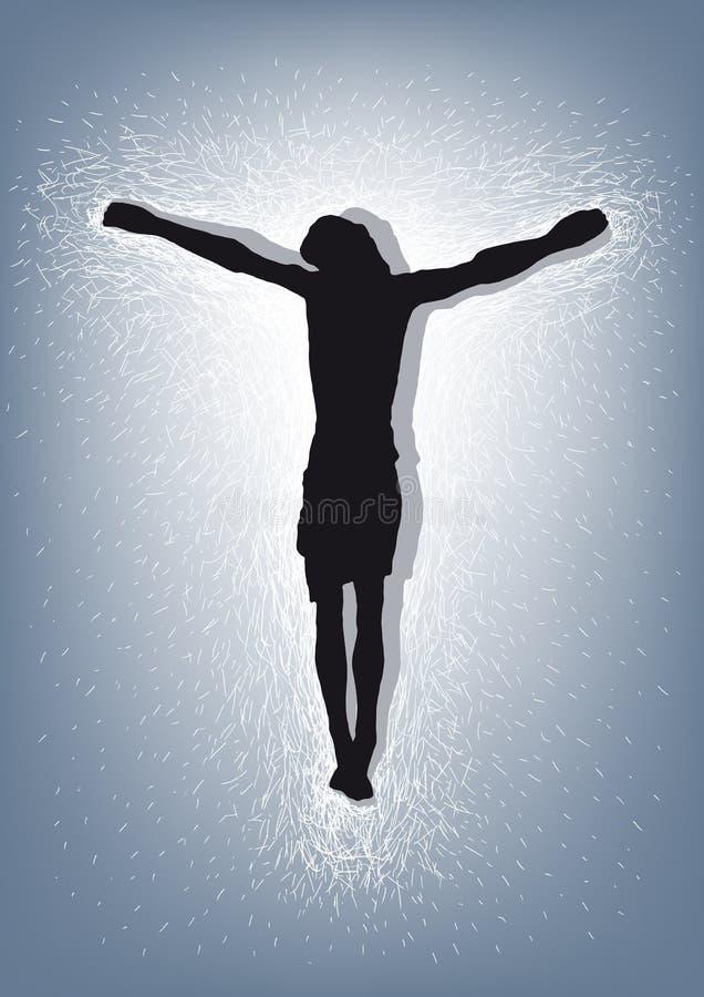 Jesus Christ crucificó stock de ilustración