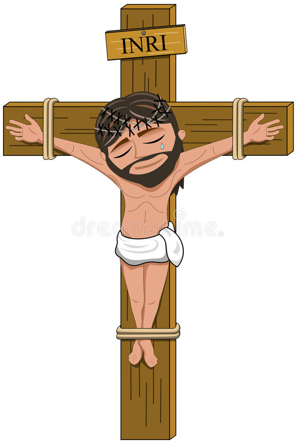 Jesus Christ Crucifix Crucifixion Cross aisló stock de ilustración