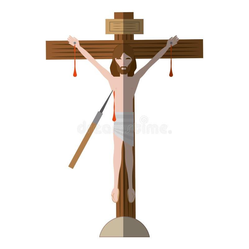 jesus christ dör arg skugga stock illustrationer