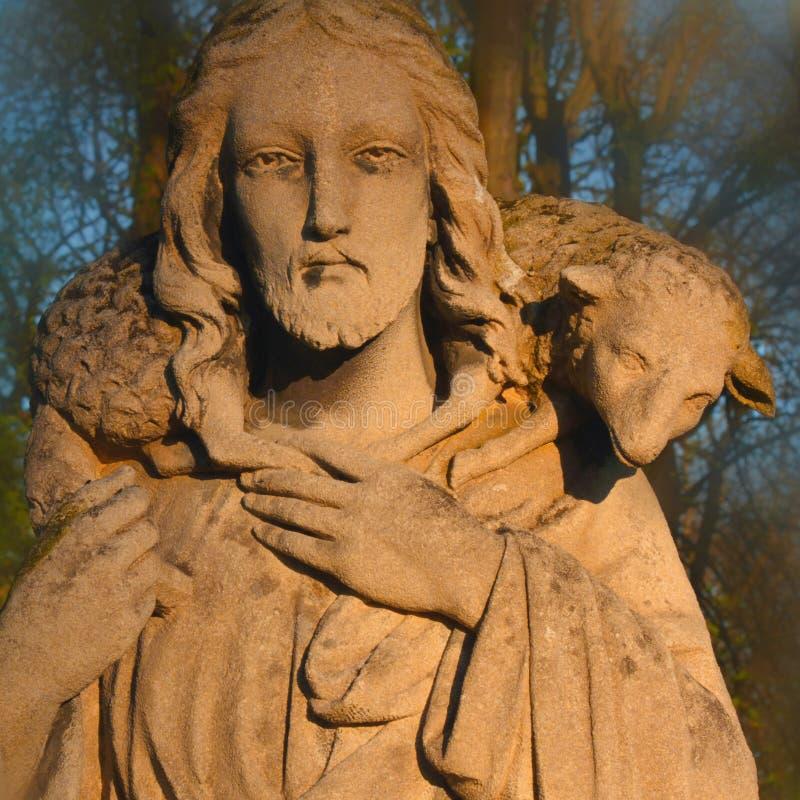 Jesus Christ - de Goede Herder stock afbeelding