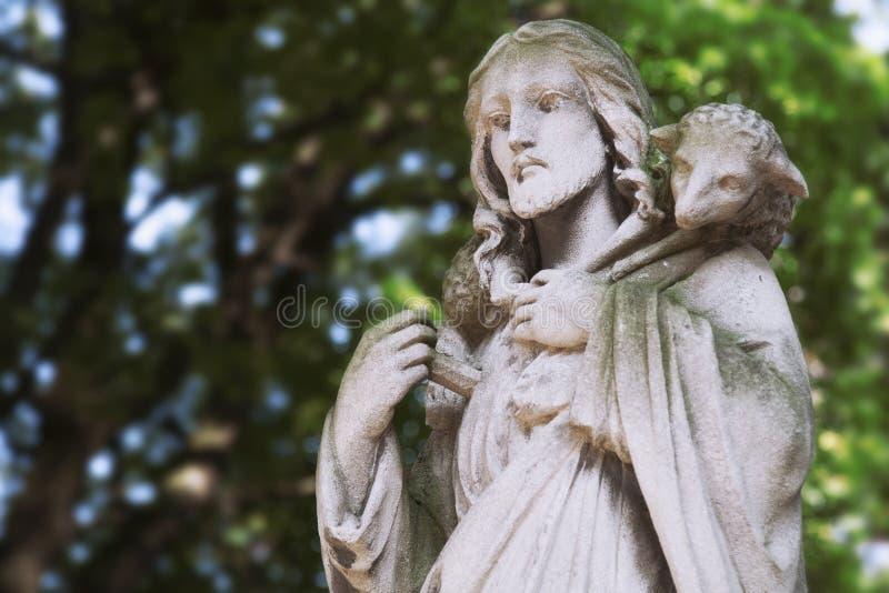 Jesus Christ - de Goede Herder royalty-vrije stock foto