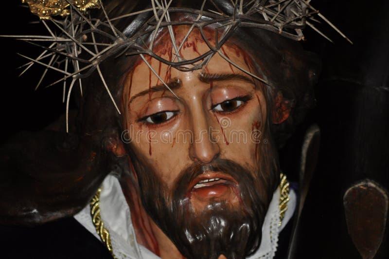 Jesus Christ de la imagen de Nazaret en semana santa fotografía de archivo libre de regalías