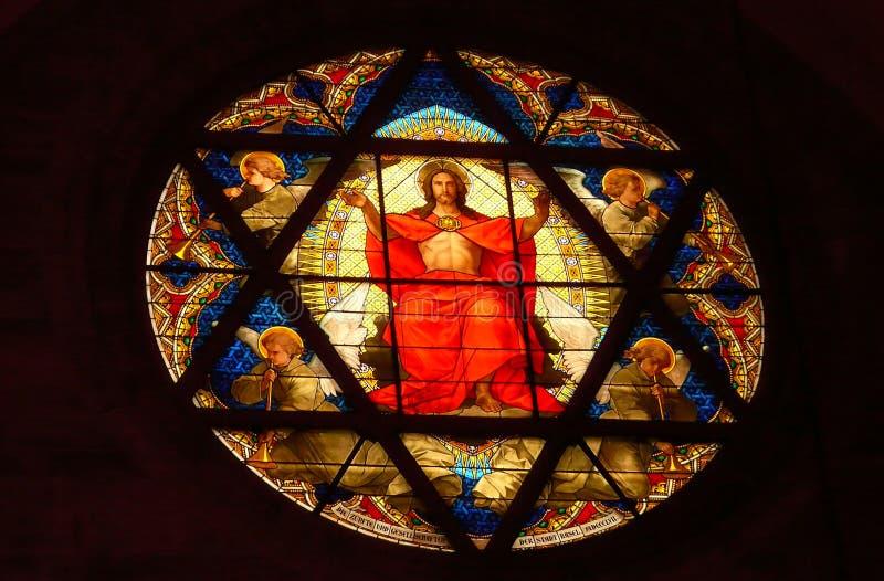 Jesus Christ em Basileia fotos de stock