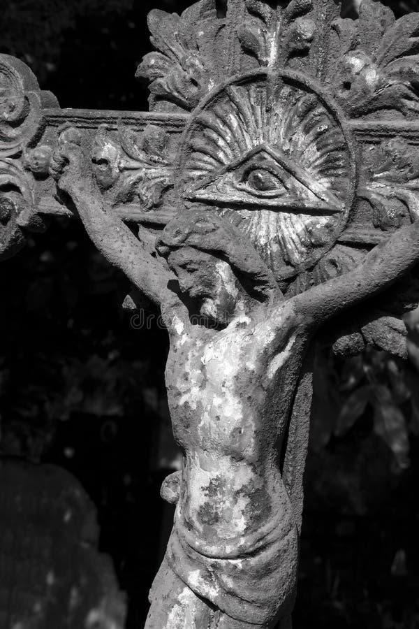 Jesus Christ en cruz fotos de archivo libres de regalías