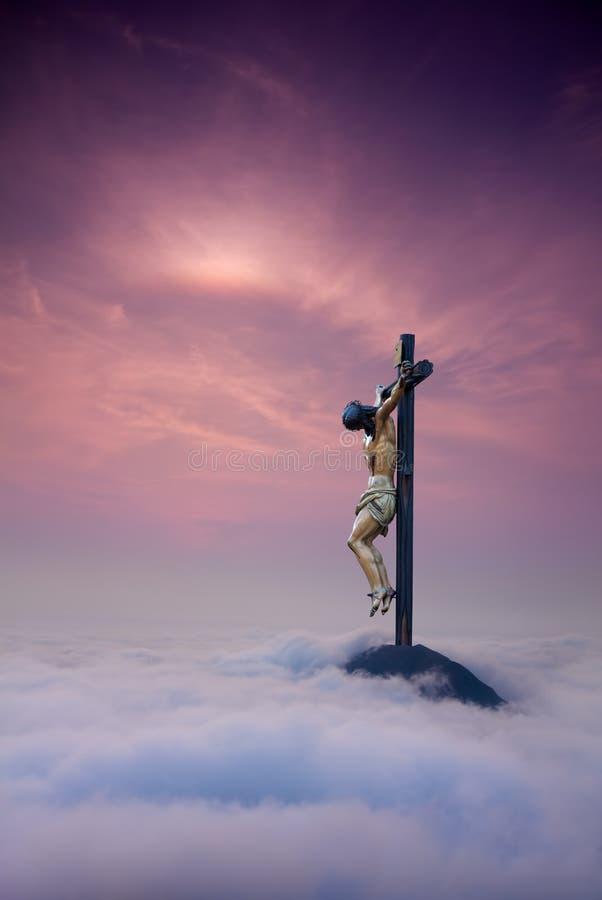 Jesus Christ en imagen de la vertical del cielo libre illustration