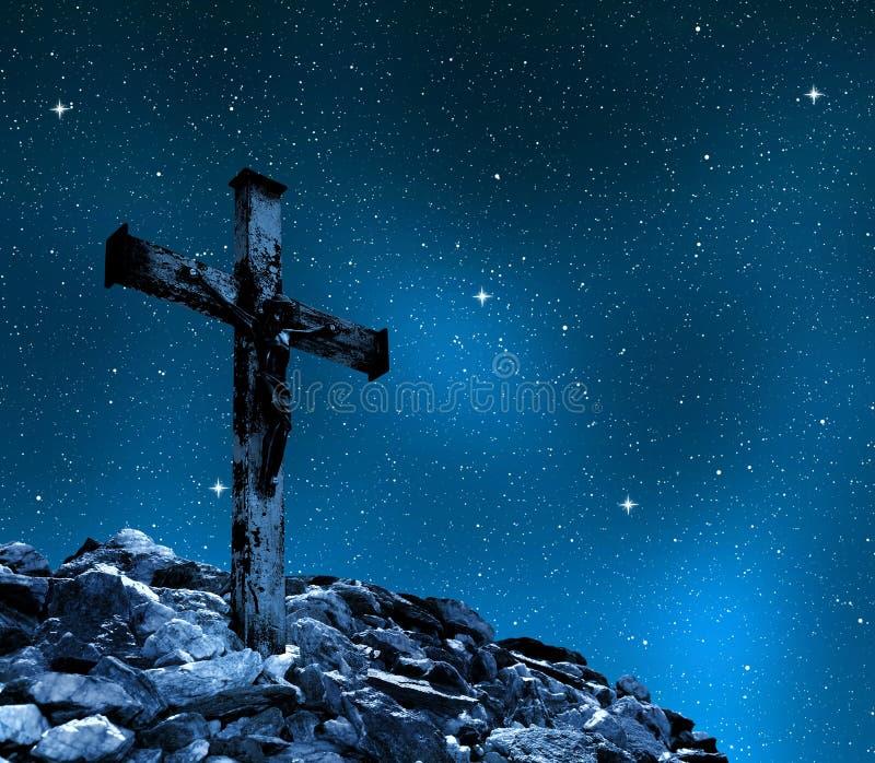 Jesus Christ en la cruz imágenes de archivo libres de regalías