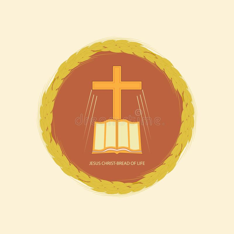 Jesus Christ es el pan de la vida stock de ilustración