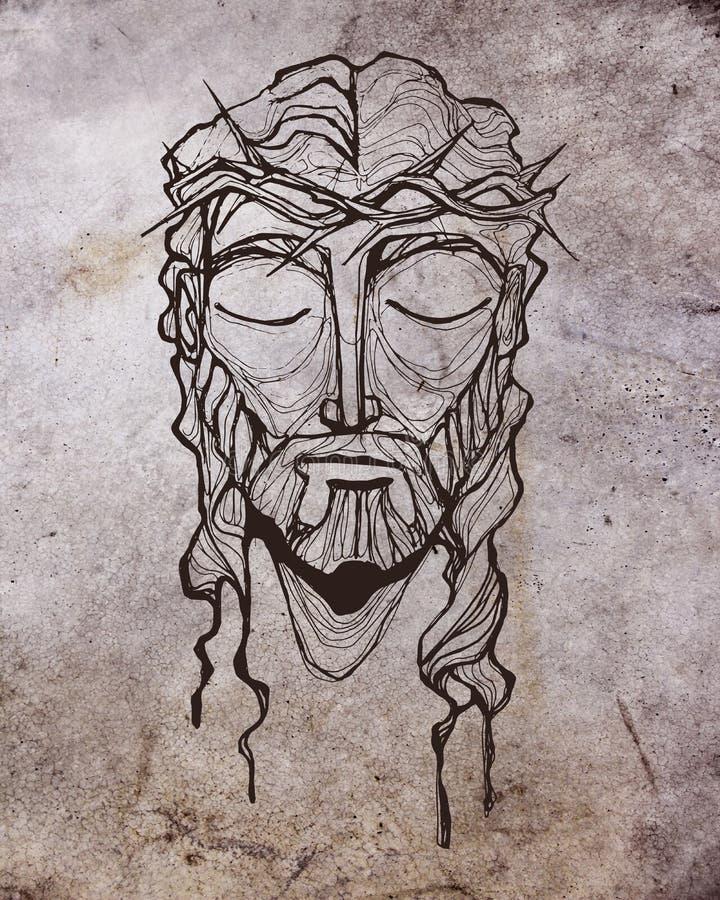 Jesus Christ Face à sa passion illustration de vecteur