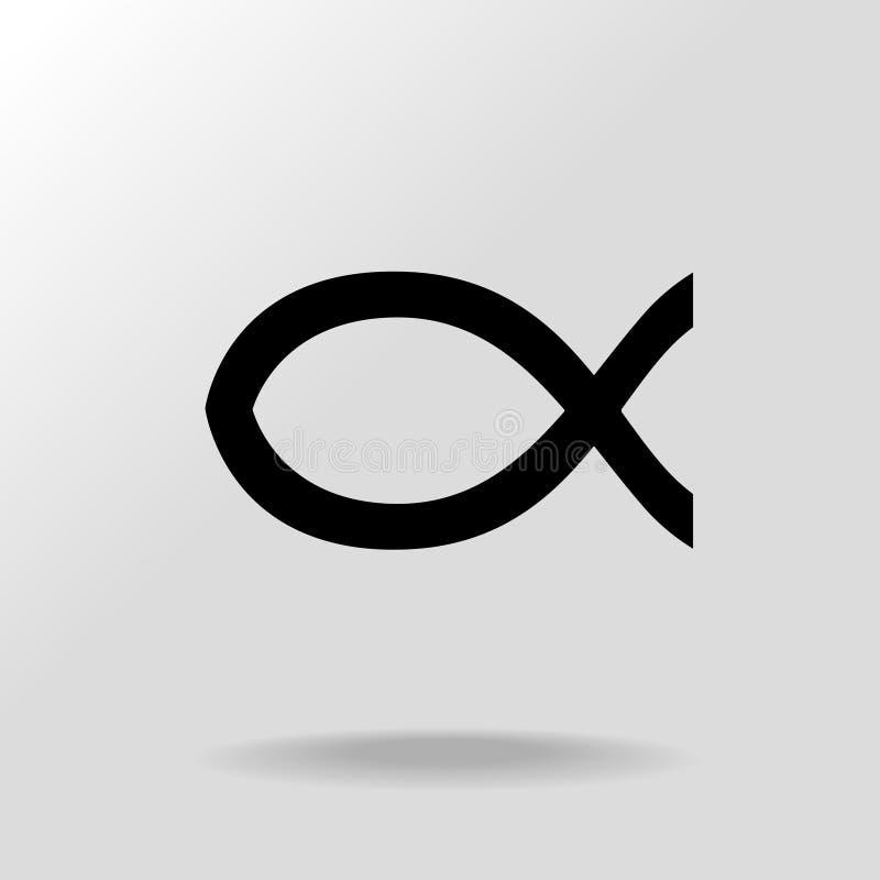 Jesus christ fish symbol stock vector illustration of for Christian fish symbol meaning