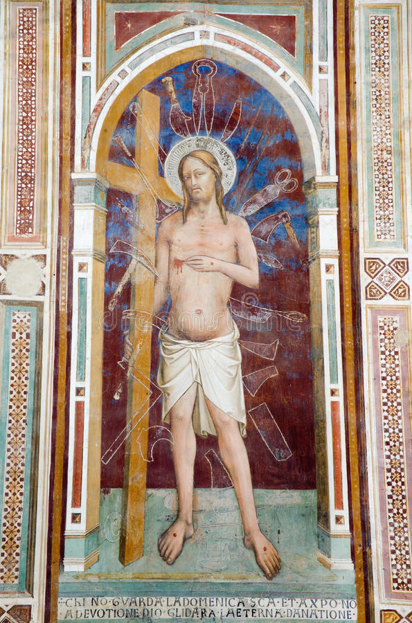 Download Jesus Christ From Florence - Fresco Stock Photo - Image: 13742642