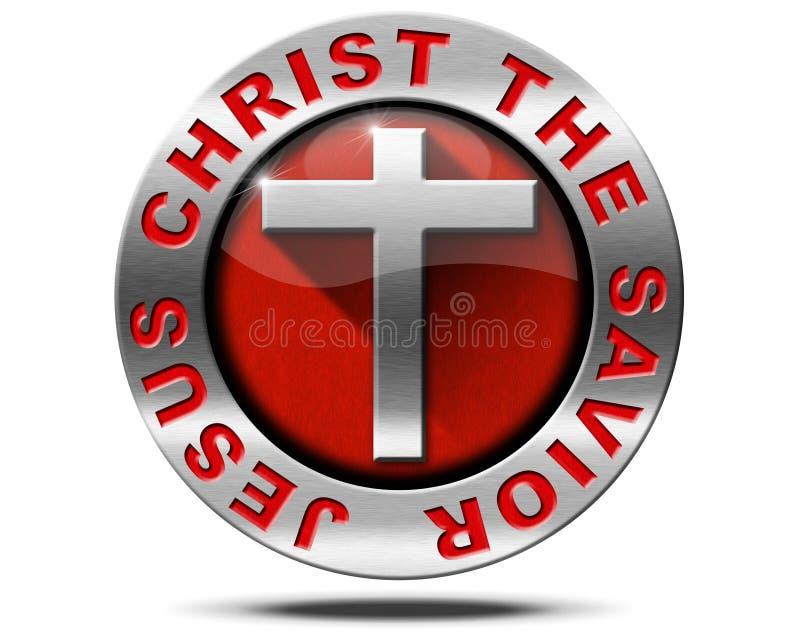 Jesus Christ frälsaren - metallsymbol vektor illustrationer