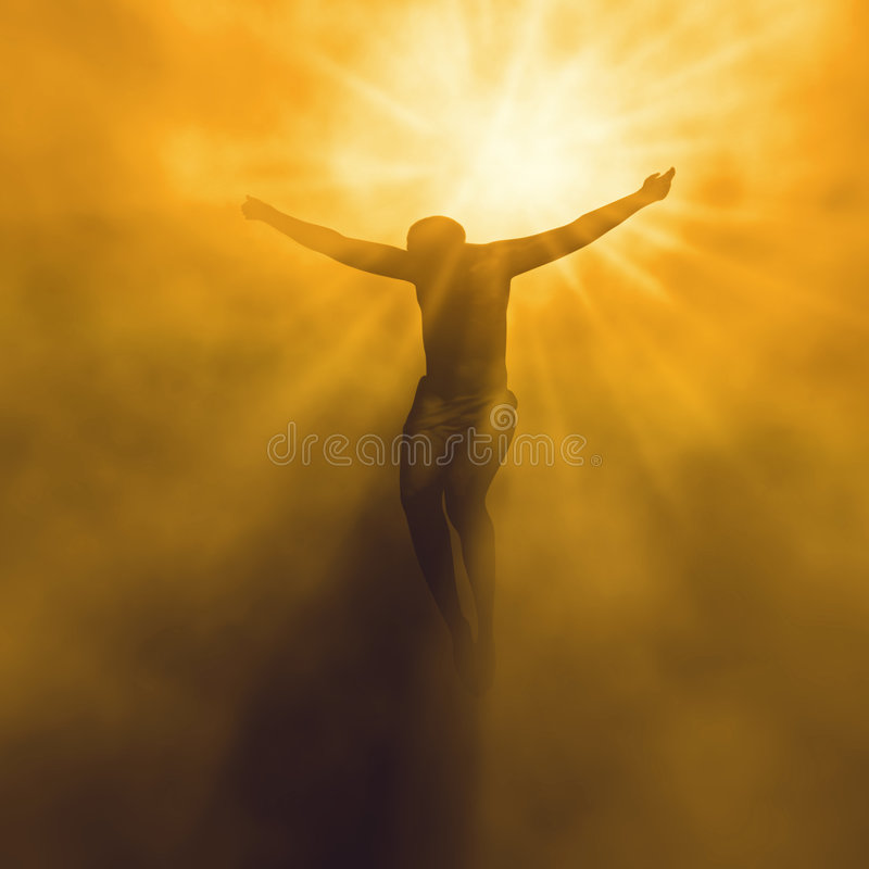 Jesus christ in heaven stock photography