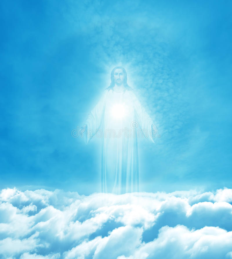 Jesus Christ in Heaven stock images