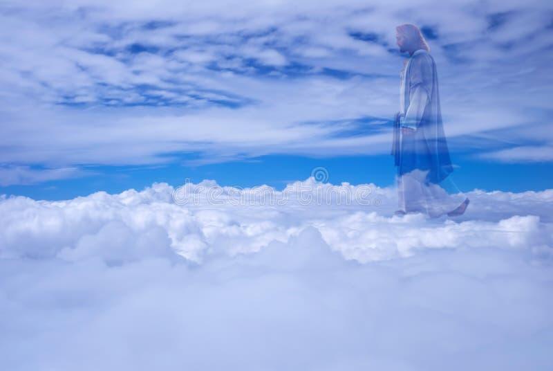 jesus christ in heaven religion concept stock image - image of