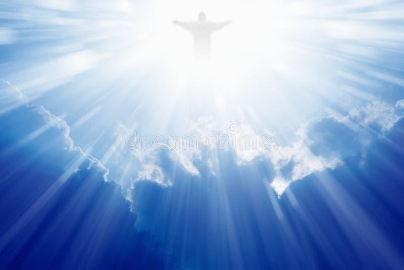 Jesus Christ i himmel royaltyfria foton