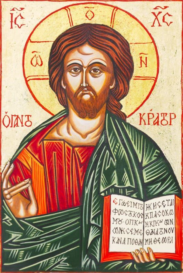 Jesus Christ Icon. Beautiful icon of Jesus Christ royalty free illustration