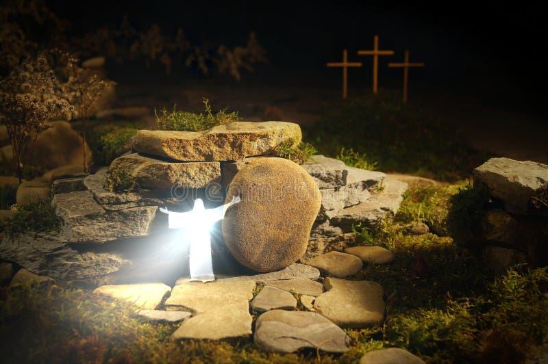 Jesus Christ & il x28 resuscitati; Messiah, Savior& x29; esce dalla tomba & dal x28; Resurrection& x29; fotografia stock