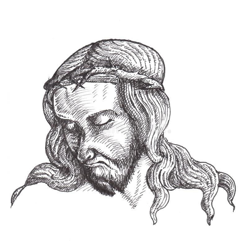 Download Jesus Christ Ink Drawings Royalty Free Stock Image - Image: 28174526