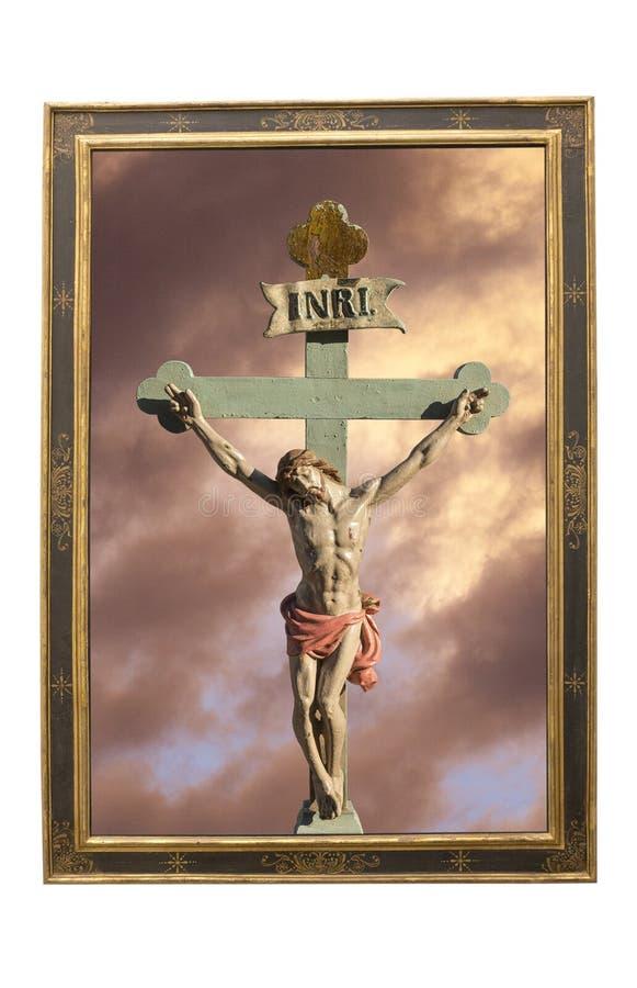 Jesus Christ INRI imagenes de archivo