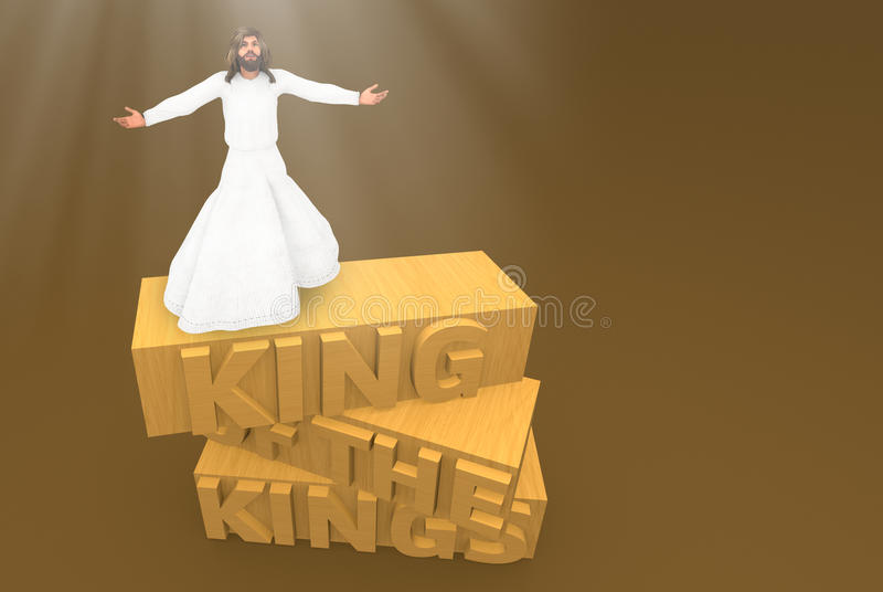 Jesus Christ King av konungar royaltyfri illustrationer