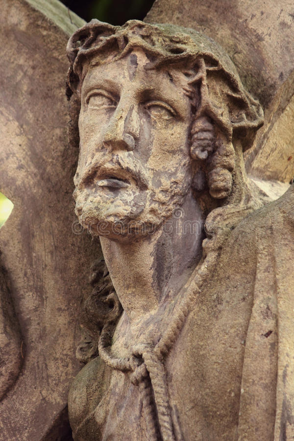 Jesus Christ krona av taggar på arkivbild