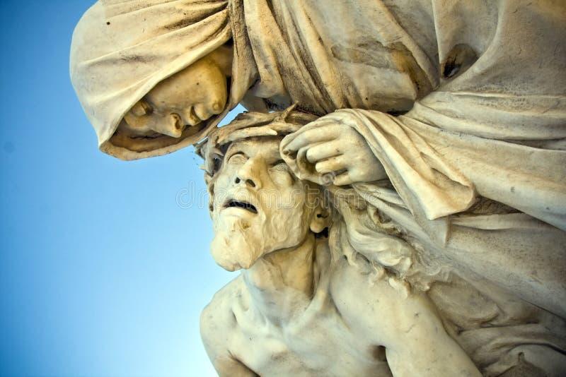 Jesus Christ med modern royaltyfria foton
