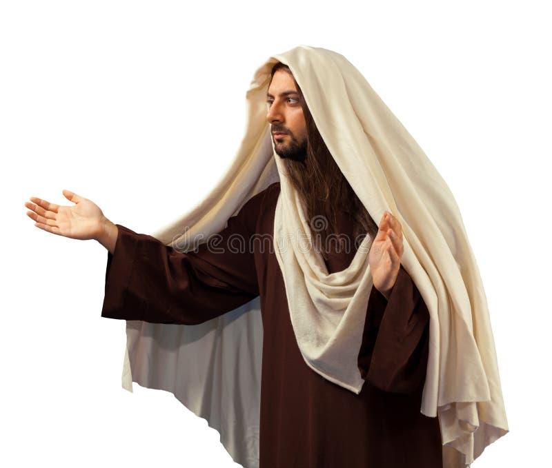 Jesus Christ met open wapens stock fotografie
