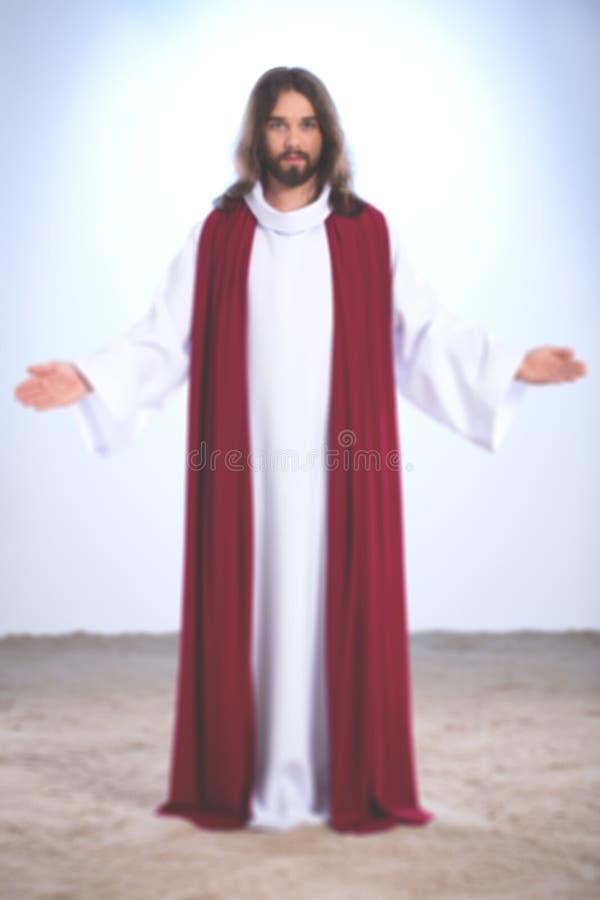 Jesus Christ met open wapens royalty-vrije stock afbeelding