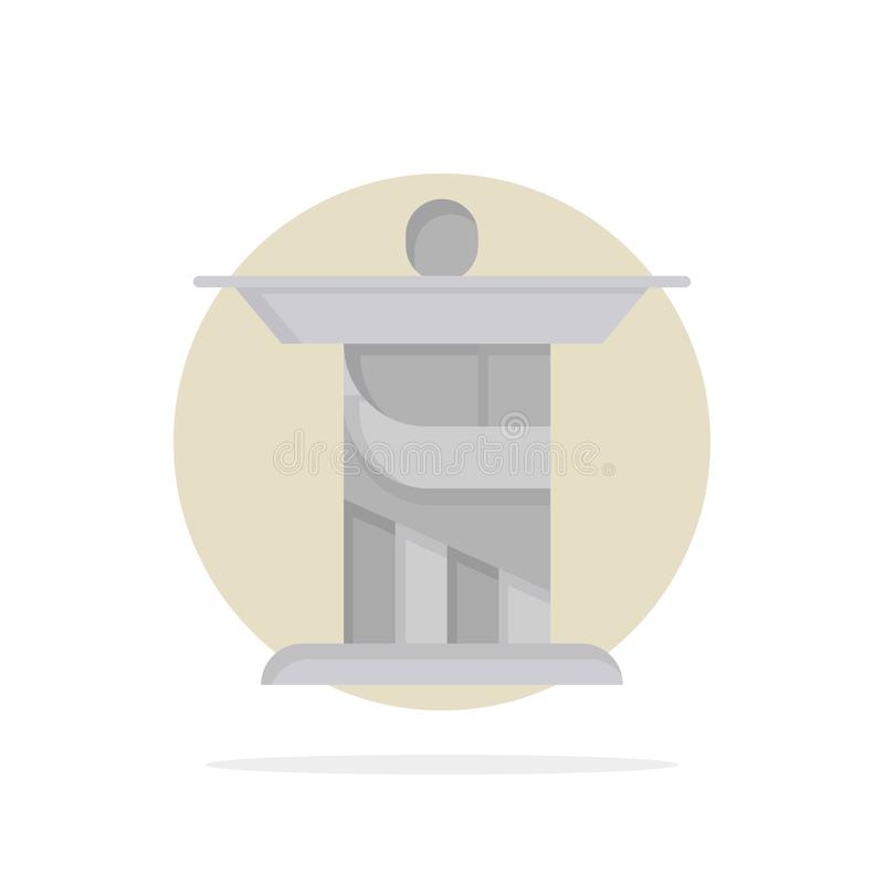 Jesus, Christ, Monument, Landmark Abstract Circle Arrière-plan Couleur plate Icône illustration de vecteur