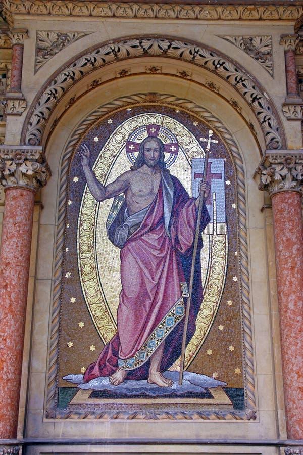 Jesus Christ, Mosaik lizenzfreie stockbilder