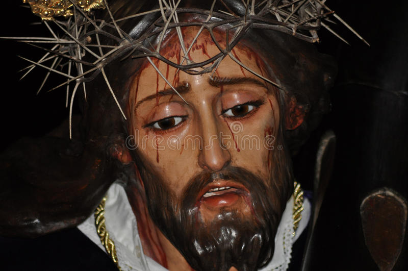 Jesus Christ of Nazareth image in holy week. royalty free stock photography