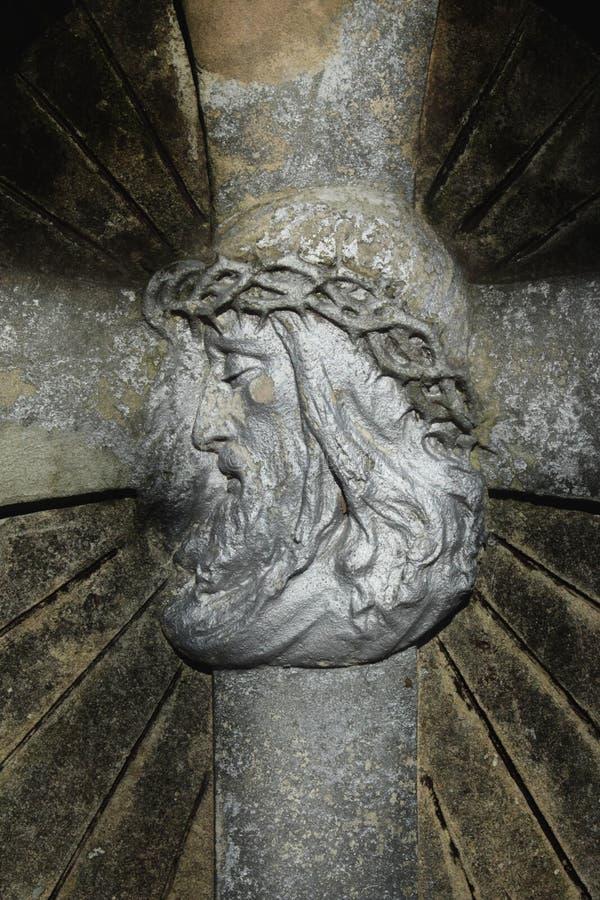 Jesus Christ no fundo transversal imagens de stock royalty free