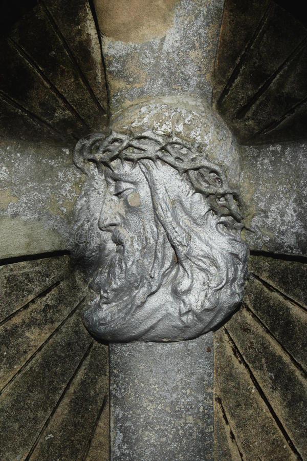 Jesus Christ no fundo transversal foto de stock
