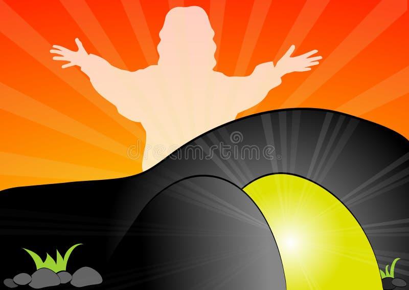 Download Jesus Christ is risen stock vector. Image of black, rays - 33049246