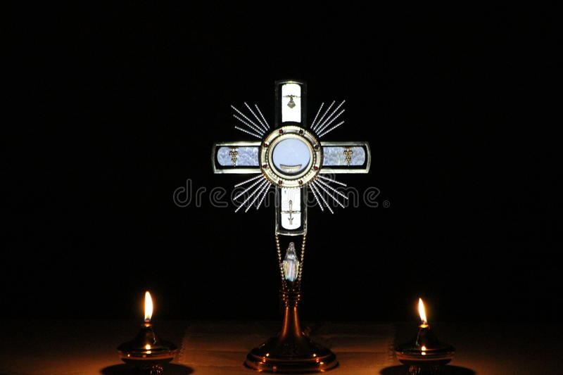 Jesus Christ in the Sacrament of the Altar stock image