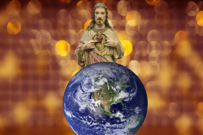 Jesus Christ Saviour and Son of God. Salvation is being saved or protected from harm or being saved or delivered from a dire situation. In christian religion stock images