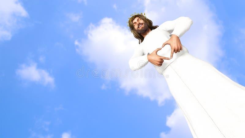 Jesus Christ Smiling With Love-Illustratie royalty-vrije illustratie