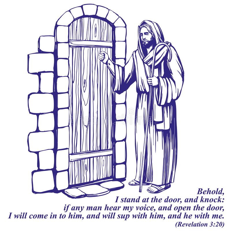 Jesus christ son of god knocking at the door symbol of download jesus christ son of god knocking at the door symbol of christianity hand altavistaventures Gallery
