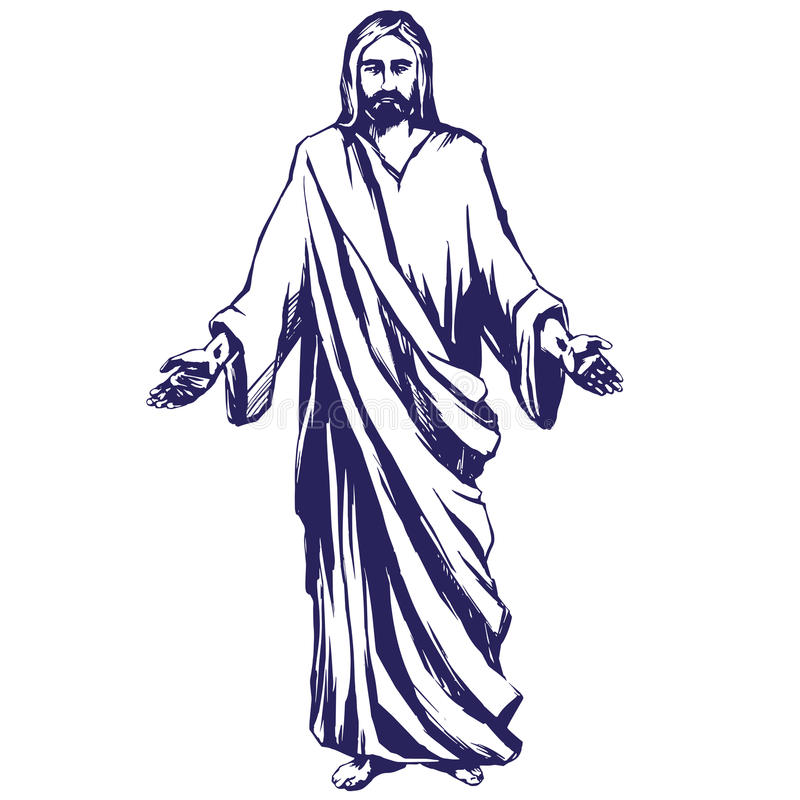 Jesus Christ The Son Of God Symbol Of Christianity Hand Drawn