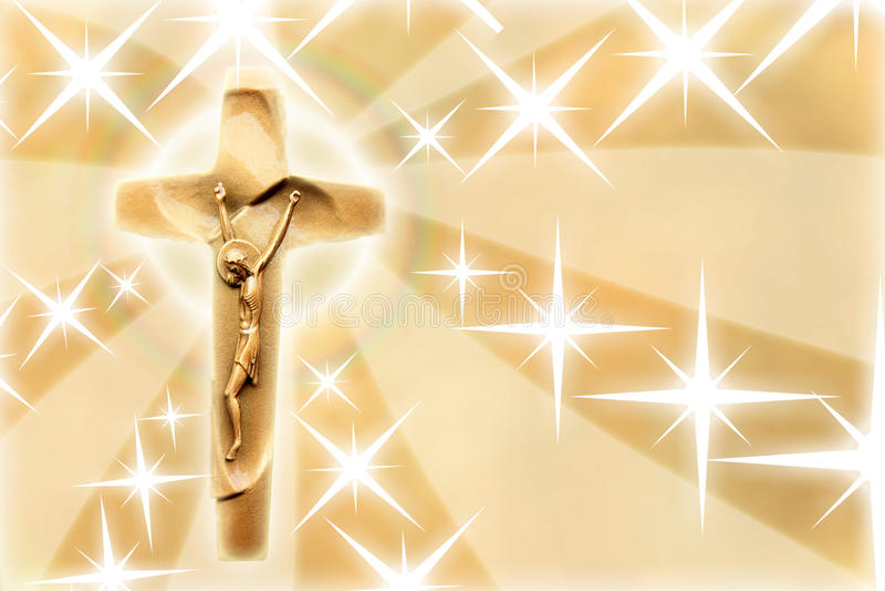 Jesus Christ with stars. Concept of Jesus Christ with stars stock illustration