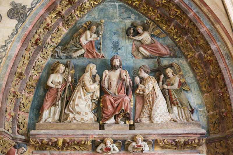 Jesus Christ - statue dans la cathédrale de Burgos photographie stock libre de droits