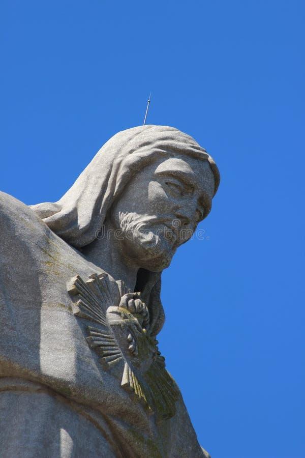 Jesus Christ Statue in Lissabon royalty-vrije stock foto's