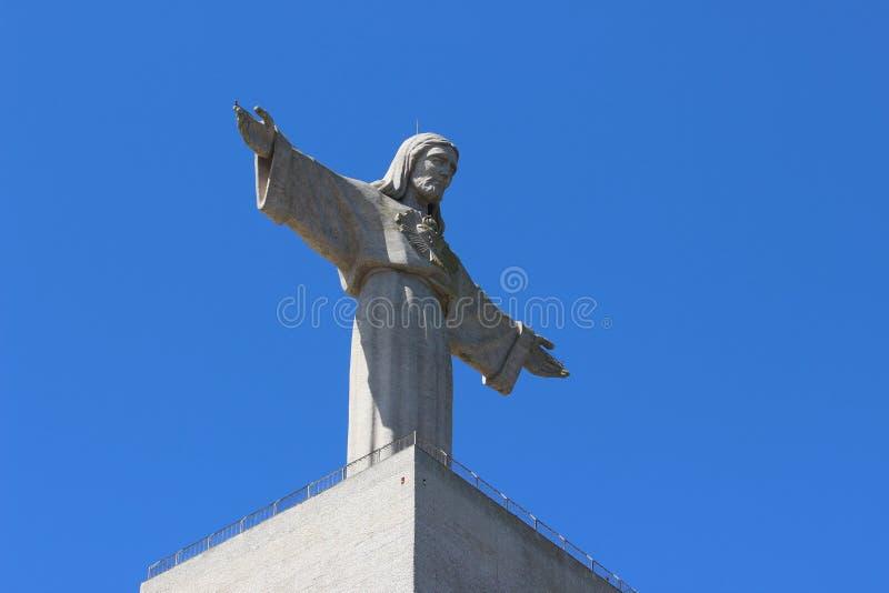 Jesus Christ Statue in Lissabon royalty-vrije stock afbeeldingen