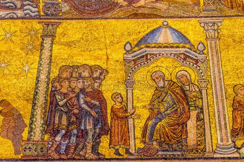 Jesus Christ Temple Mosaic Dome Bapistry Heilige John Florence Ita stock afbeeldingen
