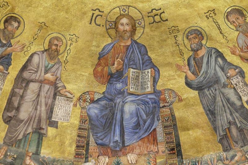 Jesus Christ und die Apostel stockbild